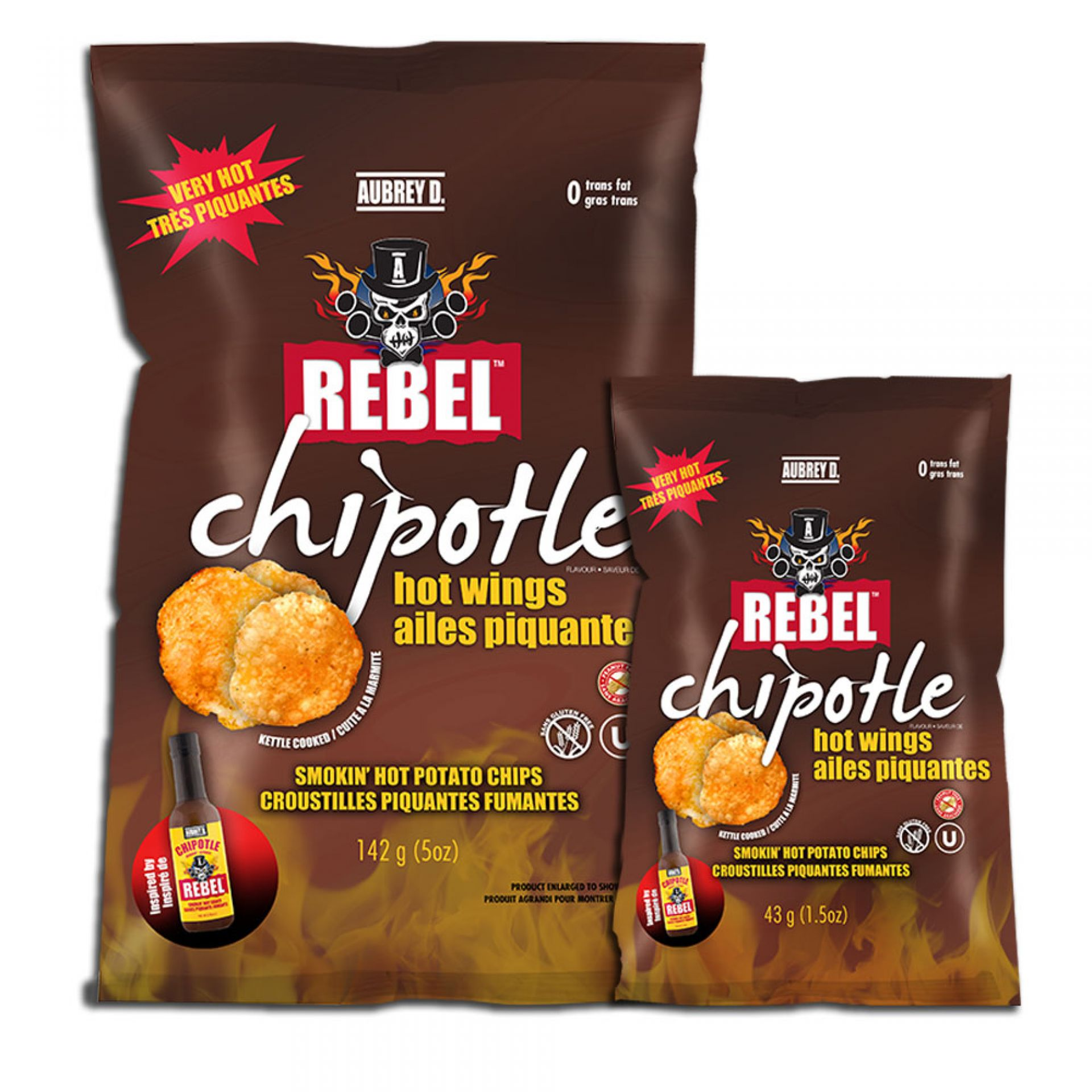 Rebel Chipotle Hot Wings - Hot (43g)