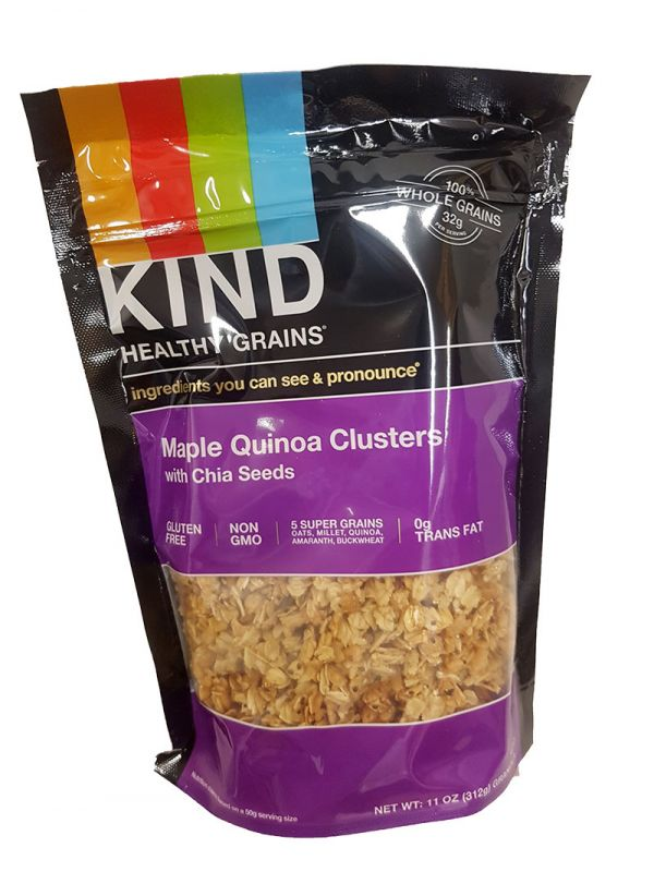 Kind Maple Quinoa Clusters with Chia Seeds 312 g