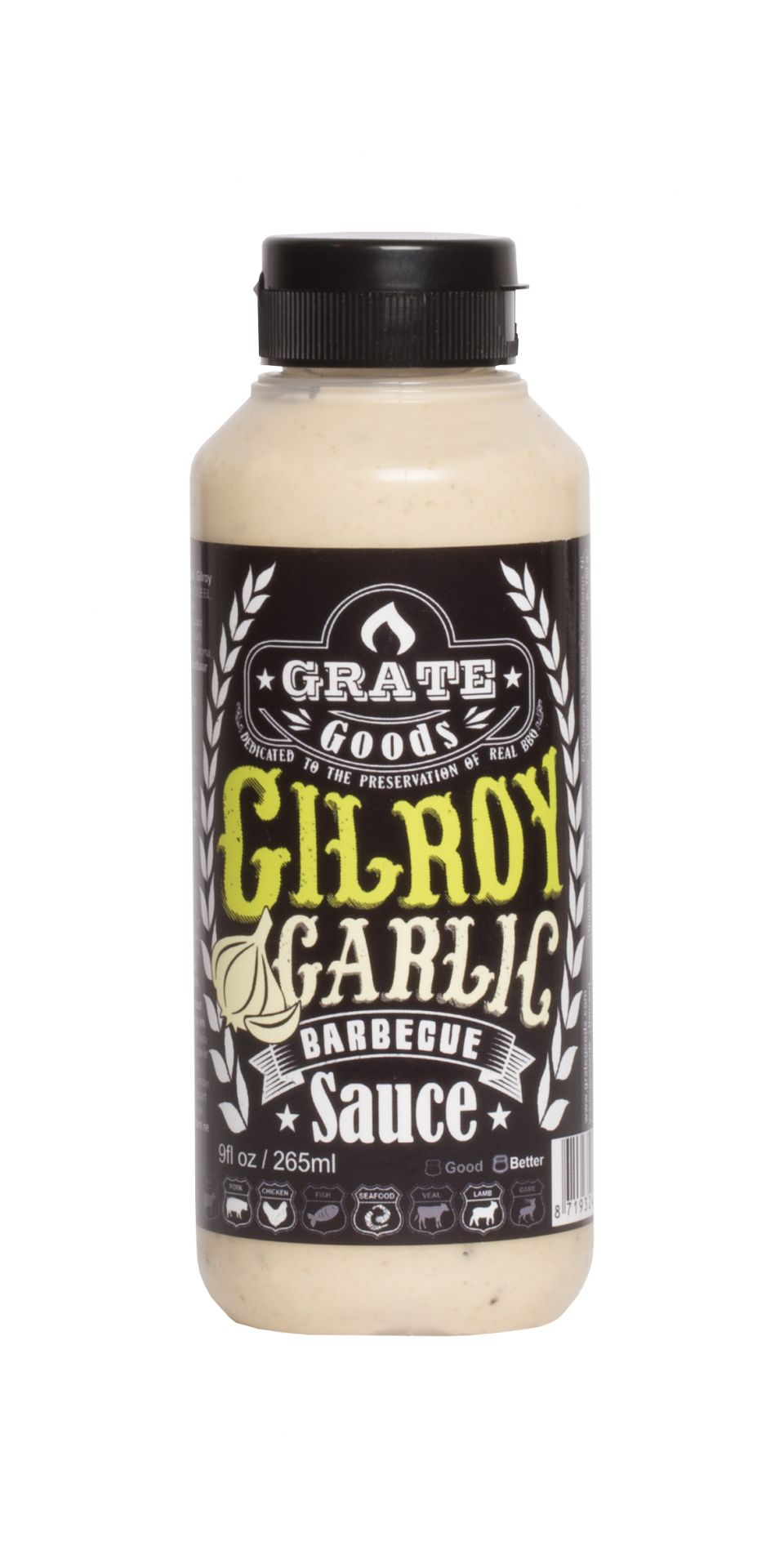 Grate Goods Gilroy Garlic BBQ Sauce 265ml