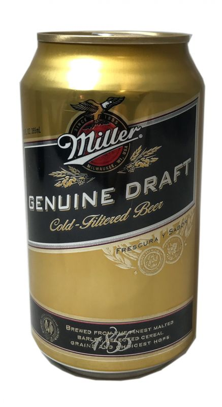 Miller Genuine Draft Cold-Filtered Beer (zzgl. 0,25? Pfand)