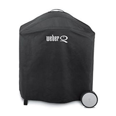Abdeckhaube Premium für Weber Q 300-/3000-/200-/2000-Serie (eingeklappte Seitentische)
