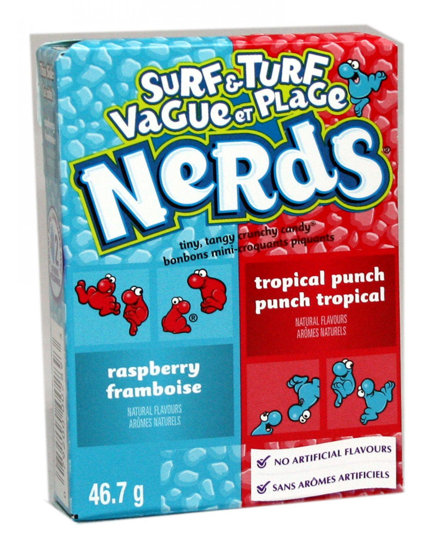 Wonka Nerds Raspberry - Tropical Punch 46 gr