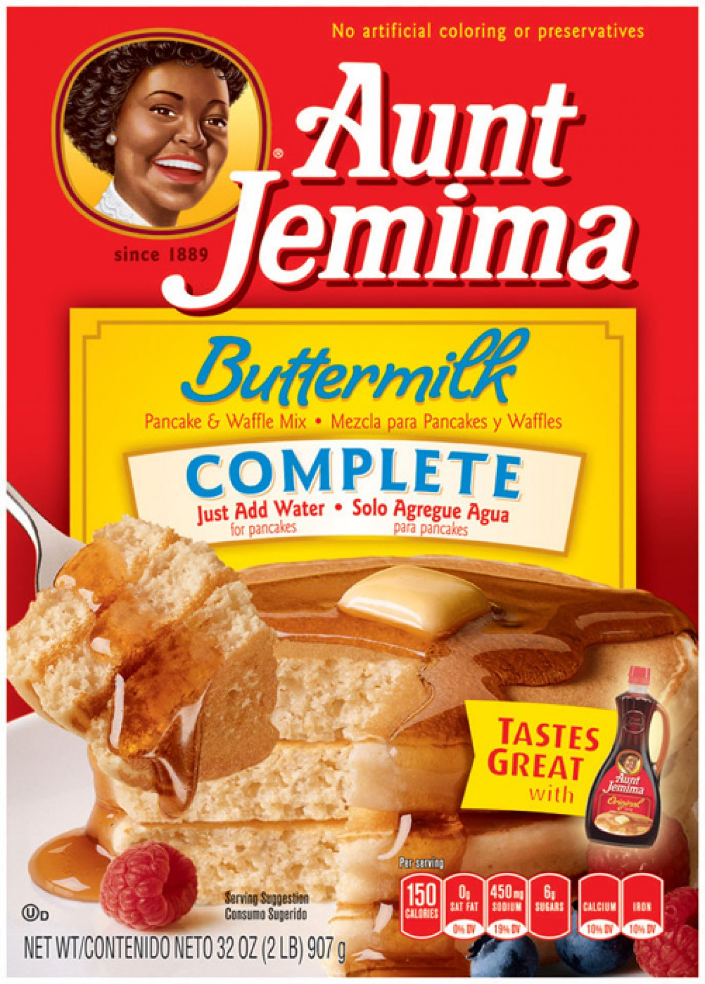 Aunt Jemima Buttermilk Complete Pancake Mix 907 g