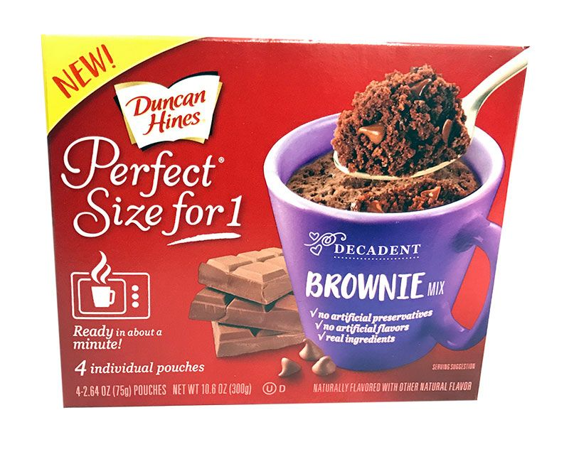Duncan Hines Brownie Mix - Perfect Size for 1