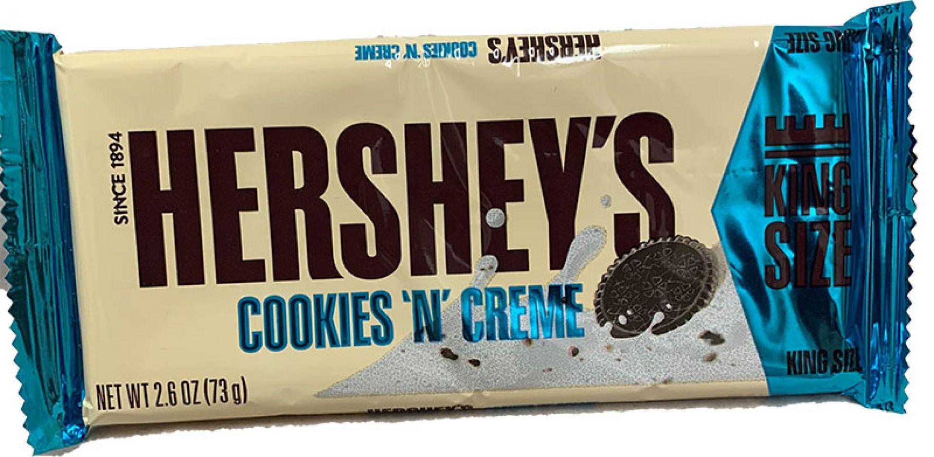 Hershey Cookies & Creme King Size 73 g (MHD 06.2020)