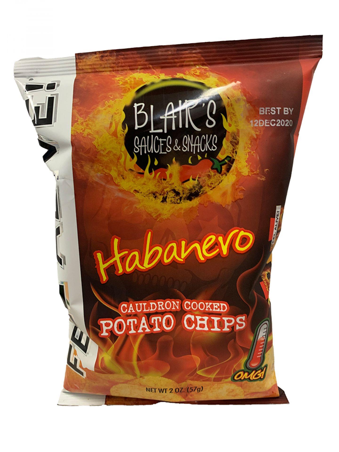 Blair´s Death Rain Habanero Chips - 57g