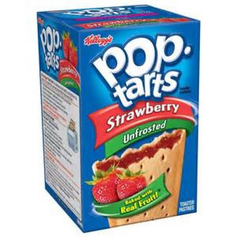 Kelloggs Poptarts Unfrosted Strawberry