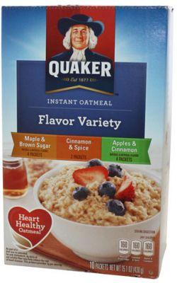 Quaker Instant Oat Flavor Variety
