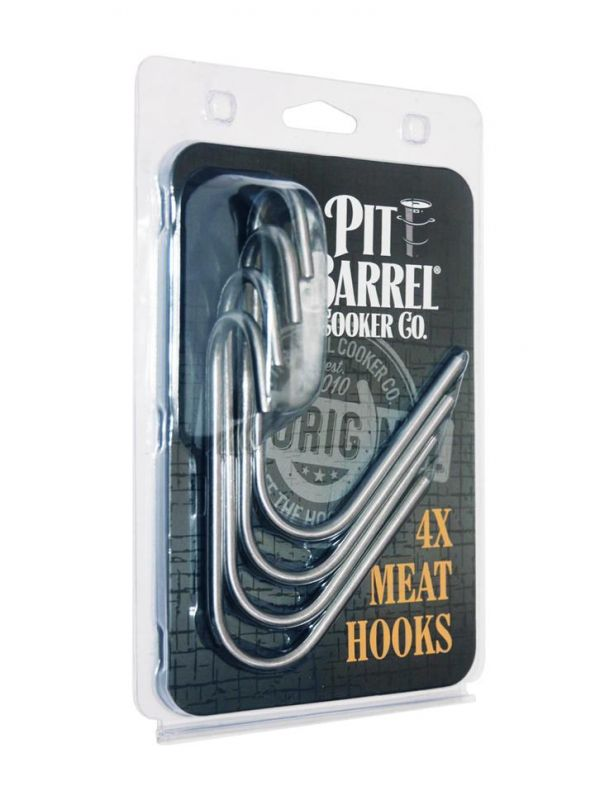 Pit Barrel Cooker Original Stainless Steel Meat Hooks 4x